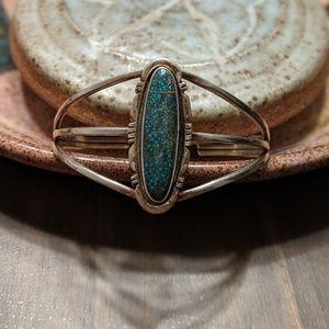 Vintage Sterling Native Bangle